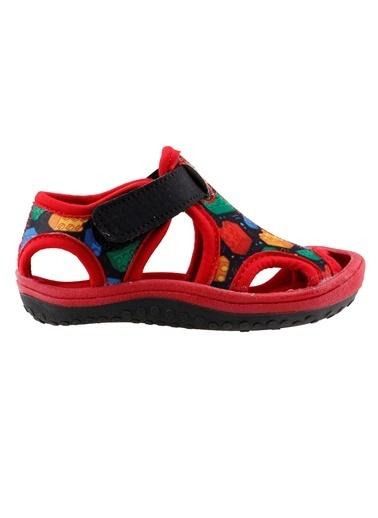 Ayakland Ayakland Kids Lego Desenli Aqua Erkek Çocuk  Sandalet Panduf Ayakkabı Renkli